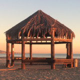 The gazebo at Doheny State Beach, Dana Point during the golden hour, no edit, just cropped.
