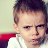 Frowning kid
