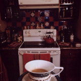 Coffee in my Kitchen early in the mornings. Such a delight