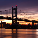 Sunset Triboro Bridge Astoria Queens
