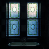 Stained Glass and bathtub, Manhattan.