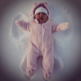 baby snow angel, childhood
