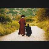 Hassid and his daughter, the walk to heaven.