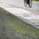 Bicycle on formula 1 race track