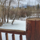 Pretty winter view from the deck