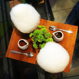 Love these Cotton Candy Affogato. Espresso + Ice-Cream + Cotton Candy = Happiness unlimited.