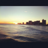 Sundown in Atlantic City.