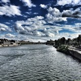 Maastricht with drama sky