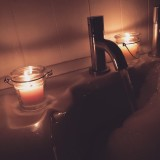Evening Bubble Bath with Candles