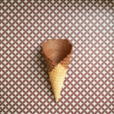 A cone without ice-cream is like a bicycle with no bell ... Or shopping with a maxed out credit card ... A little dull, really but I do love this background ✨😀✨🍦✨