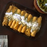 Home made Enchiladas Verdes
