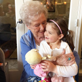 Great grandmother and her granddaughter.