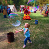 Catch the bubble at the All Hallows' Eve Faire