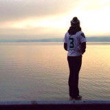 Seahawks blue Friday sunset