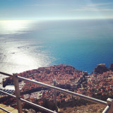 VIew at city of Dubrovnik in Croatia