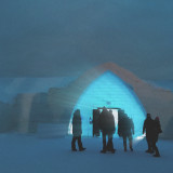 Silhouettes at the Ice Hotel