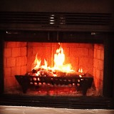 Heart shaped flames in my fireplace!1/23/16