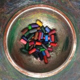 Colorful Crayons In Bowl