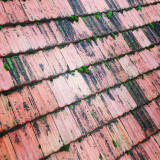 Old tile roof texture