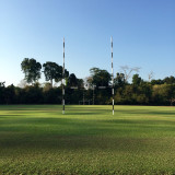 What a great day for rugby, all we need is some green grass and a ball.
