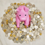 I ask my piggy bank for help!