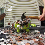 Breaking a piggy bank