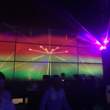 Laser Light shows during entertainment