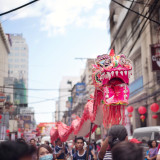 Dragon dance. Chinese New Year 2016.