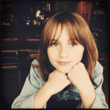 Portrait of 8 year old girl in natural light.