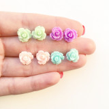 Pastel roses earrings by Cute As A Button