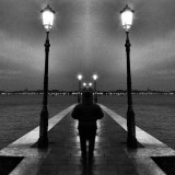 Venice beyond imagination : Venice Giudecca island, endless view and walk at night, dream or reality, so mysterious Venice, Italy. Venice and the people of Venice.