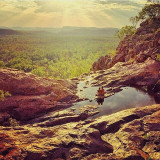 Sitting on the top of a waterfall in the Australian outback!