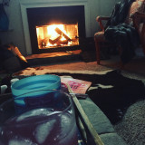 Drinks by the fire