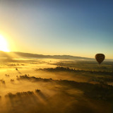 Air balloon in Napa Valley near sunset