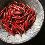 Red Chillies in a bowl