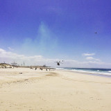 Helicopter attack along Kings Beach, Port Elizabeth during Armed Forces Day