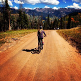Mountain biking in Colorado.