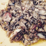 Cuttlefish meal cooking