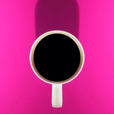 A cup of coffee in the morning