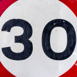 30 mile per hour speed limit sign