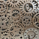 Multiple metal cogs