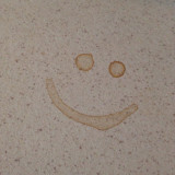 accidental coffee stains smile at me :)