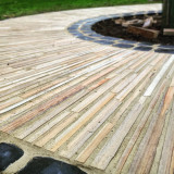 Newly fitted decorative stone paving