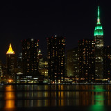 Empire State Building lit Green for St. Patrick's Day