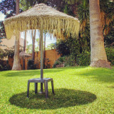 Parasol at a holiday resort on the south coast of Spain