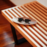 Rayban Clubmaster on George Nelson Slat bench