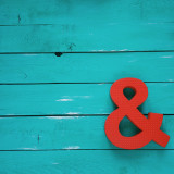 red sign symbol and & turquoise wooden background color Tiffany bright juicy fun iphoneography