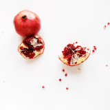 garnet red pure white background berries healthy life nutrition iphoneography