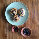 Blueberry chocolate chips muffins