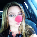 Red Nose Day. My colorful selfie